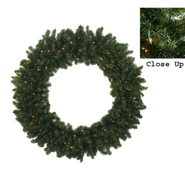 Pre-Lit Commercial Size Canadian Pine Artificial Christmas Garland by Darice