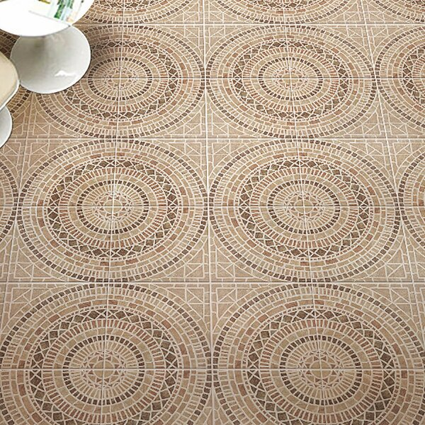 Tierra 17.75 x 17.75 Ceramic Field Tile in Beige/Brown by EliteTile