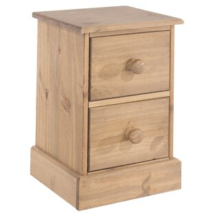 Charmant Frie 2 Drawer Bedside Table ...