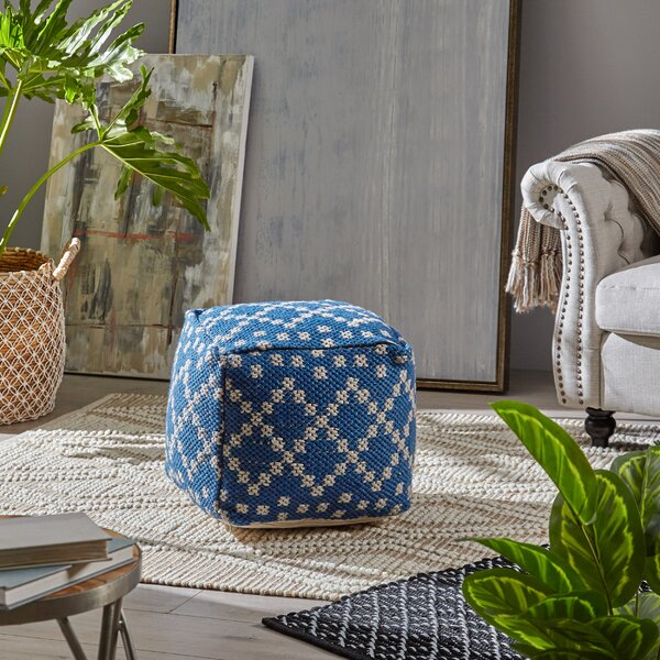 Polito Boho Pouf by Breakwater Bay