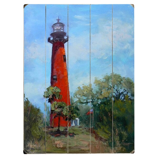 Jupiter Lighthouse Graphic Art Multi-Piece Image on Wood by Artehouse LLC