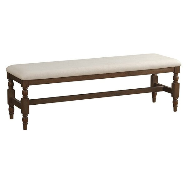 Maya Upholstered Bench by Alcott Hill