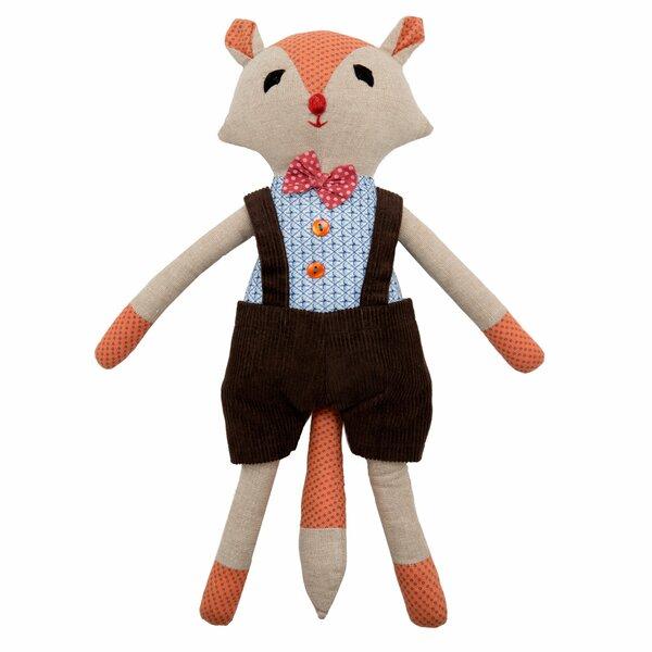 Junior Fox Cotton Throw Pillow by Madura