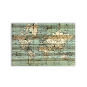 'World Map' Graphic Art by Latitude Run