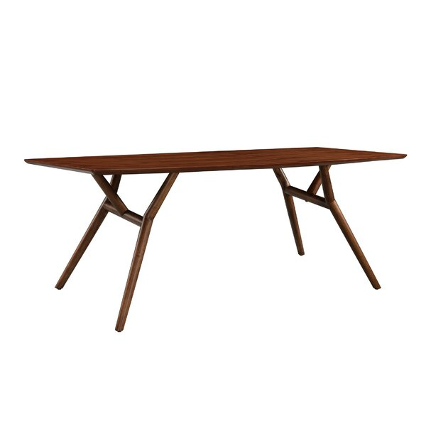 Dana Solid Wood Dining Table by Modern Rustic Interiors