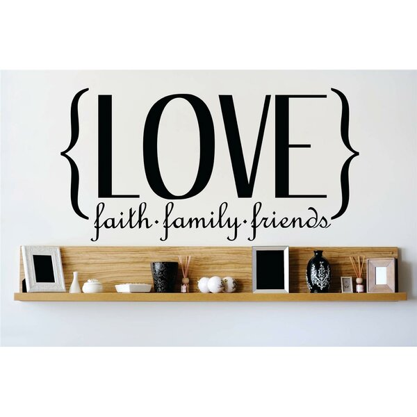 Love Faith Family Friends Wall Decal by Design With Vinyl