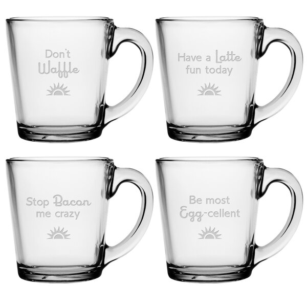 Breakfast Club Coffee Mug (Set of 4) by Susquehanna Glass