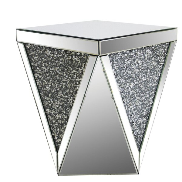 Bacon Square Mirrored Top End Table by House of Hampton