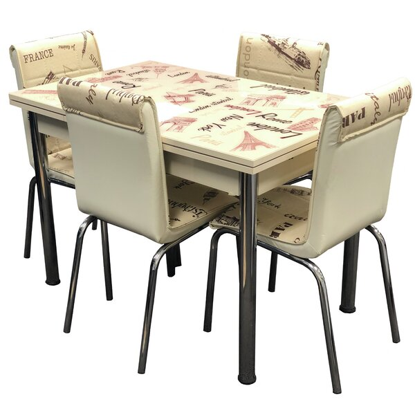 Cadena 5 Piece Extendable Dining Set by Red Barrel Studio Red Barrel Studio