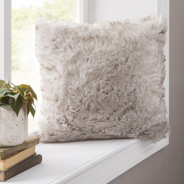 Avalon Faux Fur Throw Pillow by Eider & Ivory