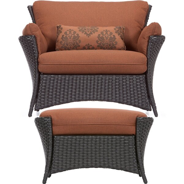Asherman 2 Piece Deep Seating Chair with Cushion by Sol 72 Outdoor