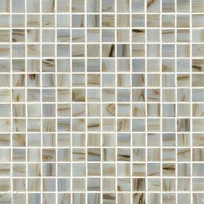 0.75u0027u0027 X 0.75u0027u0027 Glass Mosaic Tile In Ivory Iridescent