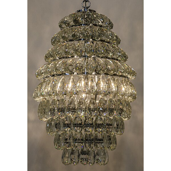 3-Light Crystal Chandelier by Noir