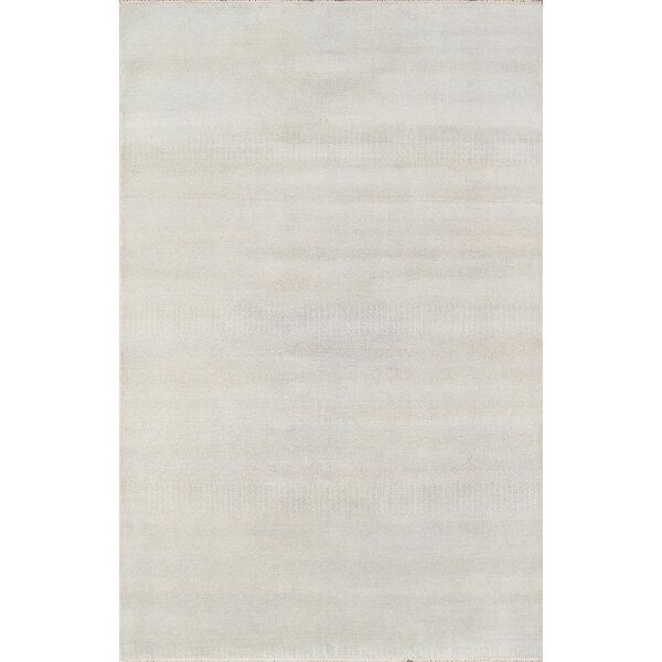 Hand-Knotted Wool Ivory Area Rug by Pasargad