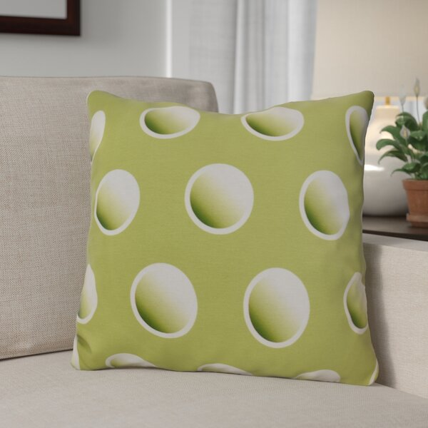 Dip Dye Dots Throw Pillow by The Holiday Aisle