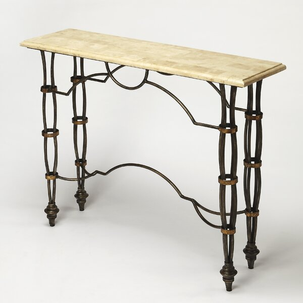 Chugwater Fossil Console Table by Fleur De Lis Living