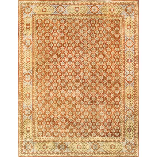 Mamluk Hand-Knotted Rust Area Rug by Pasargad