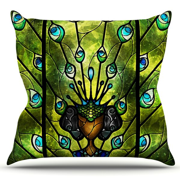 Angel Eyes by Mandie Manzano Outdoor Throw Pillow by East Urban Home