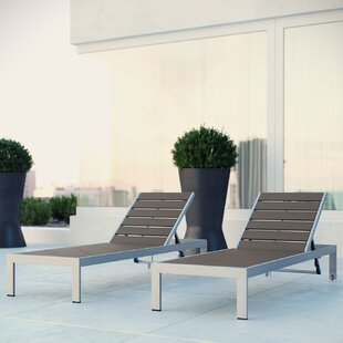 Coline Chaise Lounge (Set of 2) & Outdoor Lounge Chairs Youu0027ll Love | Wayfair