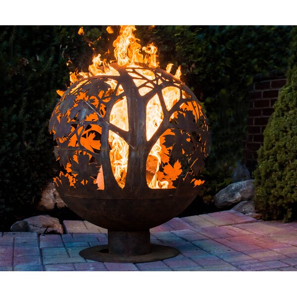 Fancy Flames Globe Leaf Outdoor Fire Pit by EsschertDesign