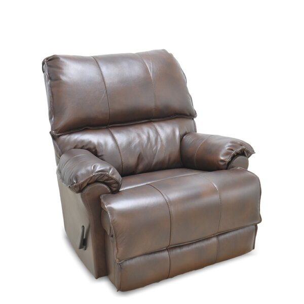 Emington Leather Manual Rocker Recliner by Darby Home Co