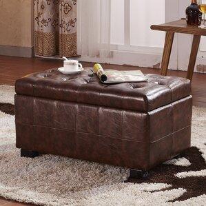 Faux Leather Storage Bench by NOYA USA