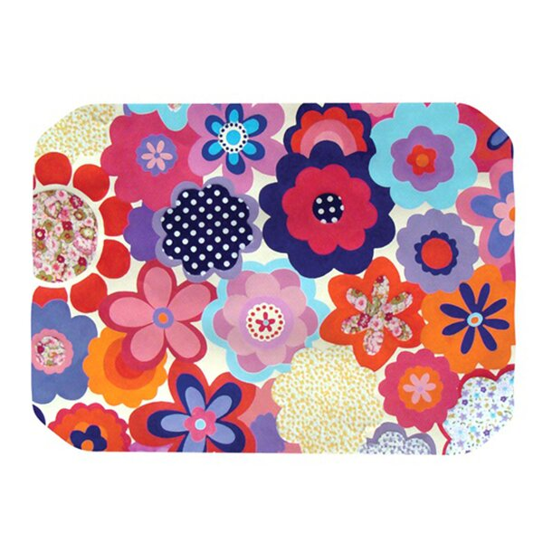 Patchwork Flowers Placemat by KESS InHouse