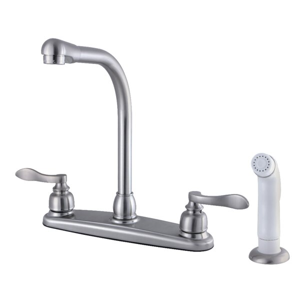 High-Arch Kitchen Faucet with Side Sprayer by Kingston Brass