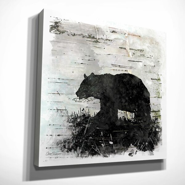 Birchbark Bear By Carol Robinson Framed Painting Print On Wrapped Canvas By Wexford Home.