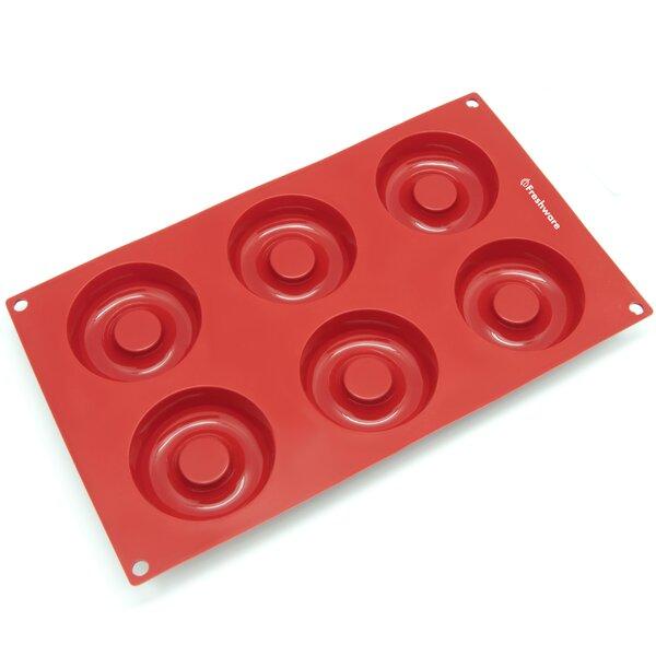 6 Cavity Savarin Silicone Mold Pan by Freshware