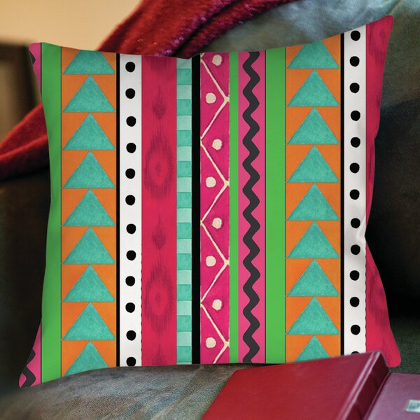 Boho Medallion Printed Throw Pillow by Manual Woodworkers & Weavers