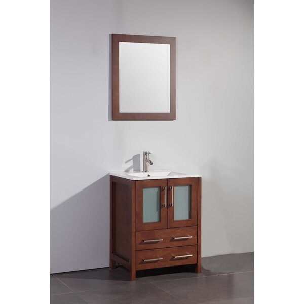Lezlie 24 Single Bathroom Vanity Set with Mirror by Ivy Bronx