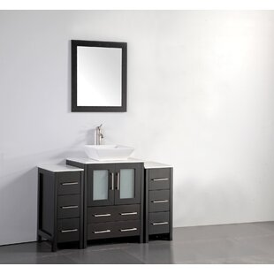 Reviews Megara 48 Single Bathroom Vanity Set with Mirror By Brayden Studio