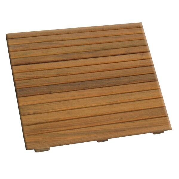 Jeffery Multiple Teak & Wood Non-Slip Bath Rug