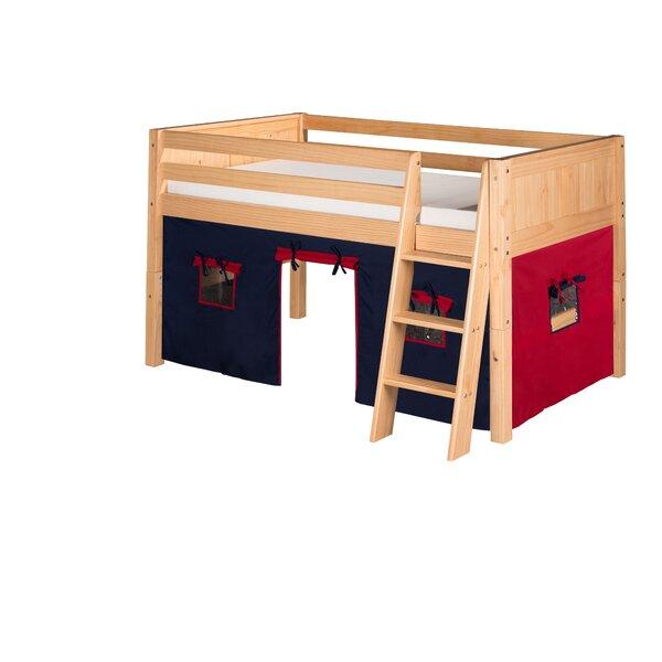 Oakwood Traditional Twin Wood Low Loft Bed by Harriet Bee