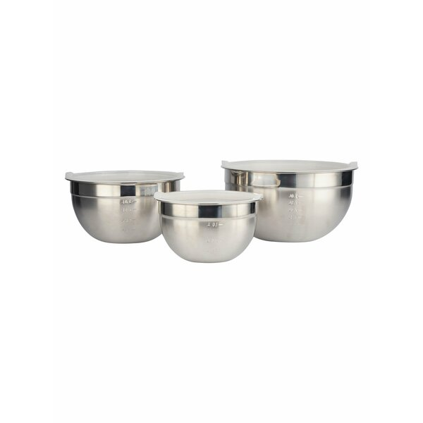 6 Piece Stainless Steel Mixing Bowl Set by Prime Cook