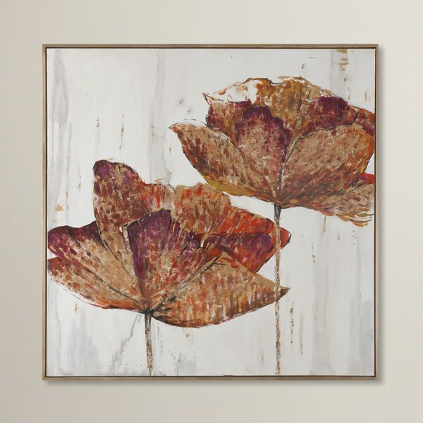 Golden Accents Floral Framed Painting Print by Can