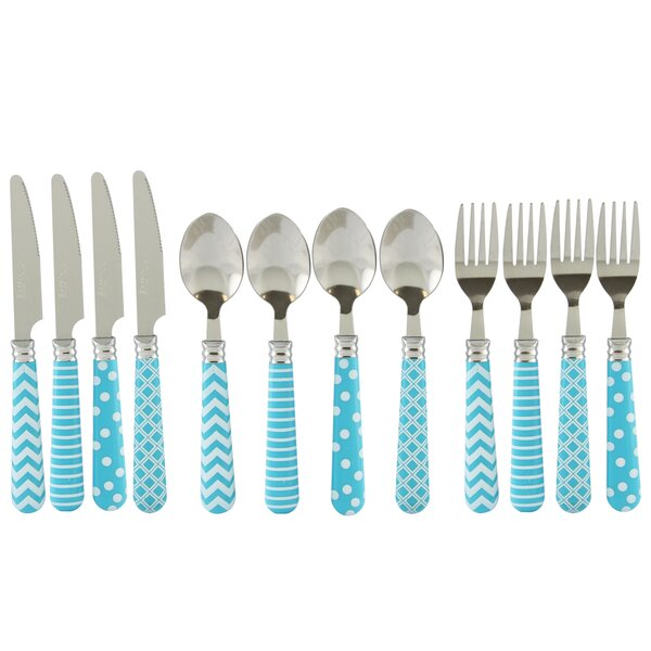 Castro Retro 12 Piece Flatware Set by Ebern Design