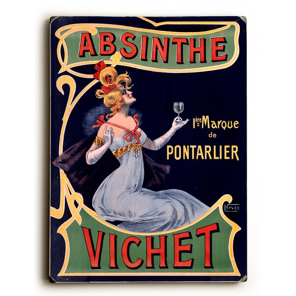 Absinthe Vichet Wine Vintage Advertisement by Red Barrel Studio
