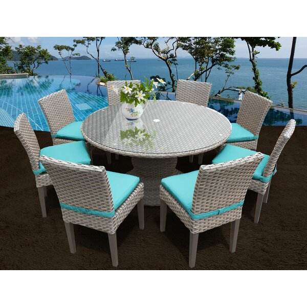Rochford 9 Piece Dining Set with Cushions by Sol 72 Outdoor Sol 72 Outdoor