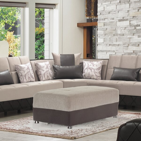 Iniguez Upholstery Ottoman by Ebern Designs