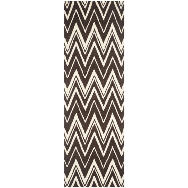 Martins Hand-Tufted Brown Area Rug by Wrought Studio