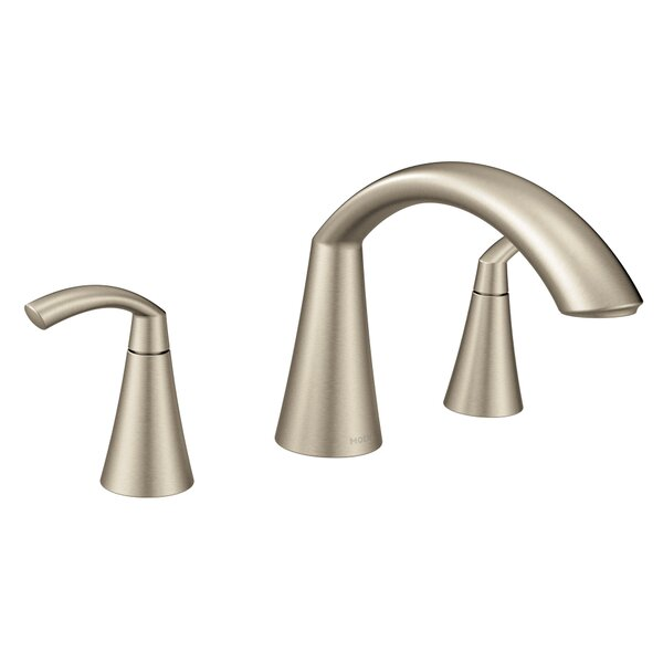 Glyde Double Handle Deck Mount Roman Tub Faucet by Moen