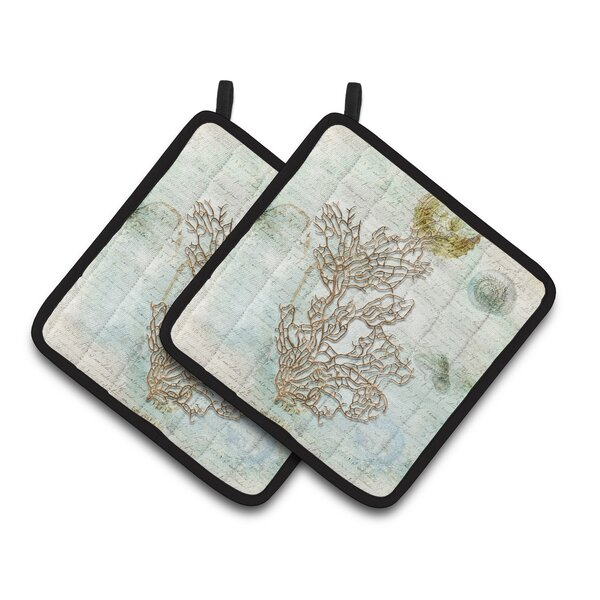 Coral Potholder (Set of 2) by East Urban Home