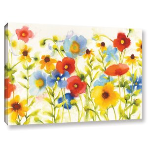 'Americana Meadow I Crop' Print on Wrapped Canvas by August Grove