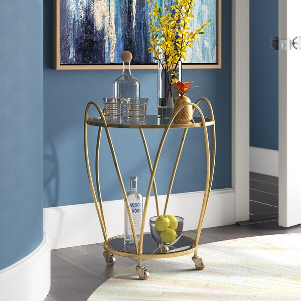 Draves Iron Accent Bar Cart by Mercer41