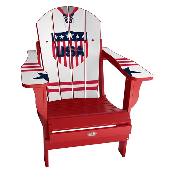 USA Classic Away Plastic Folding Adirondack Chair by My Custom Sports Chair