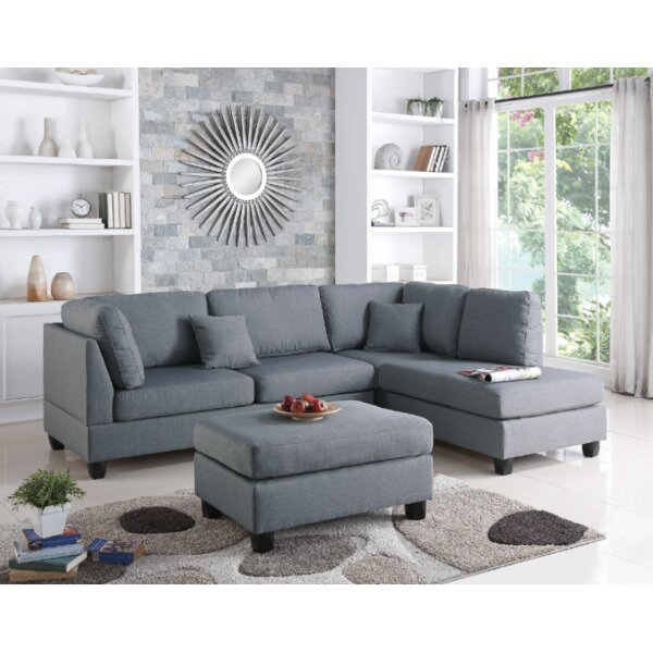 Vita Reversible Sectional with Ottoman by Ivy Bronx