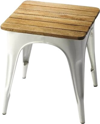 Souliere Iron and Wood Stool by Laurel Foundry Modern Farmhouse