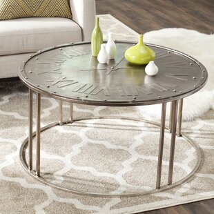 Fox Roman Clock Coffee Table Safavieh